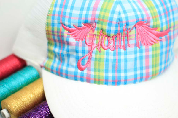 Broderie chapeaux